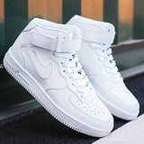 Men Women Fashion Casual Shoes Running High-top Basketball White Shoes