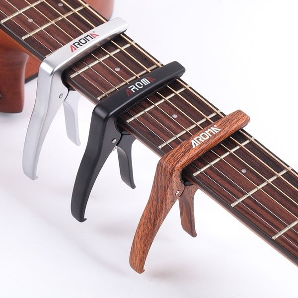 Classic Folk Guitar Capo Capodastre with Plectrum Pick Acoustic Electric Guitar Tuner Bass Violin Ukulele Key Clamp