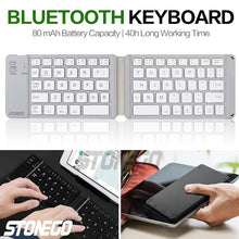 Load image into Gallery viewer, Foldable Bluetooth Keyboard, Portable Wireless Keyboards with Rechargeable Full Size Ultra Slim Folding BT Silent Key Board STONEGO Electronic Accessories for I-Produts Android Windows Smartphones Tablets and Laptops