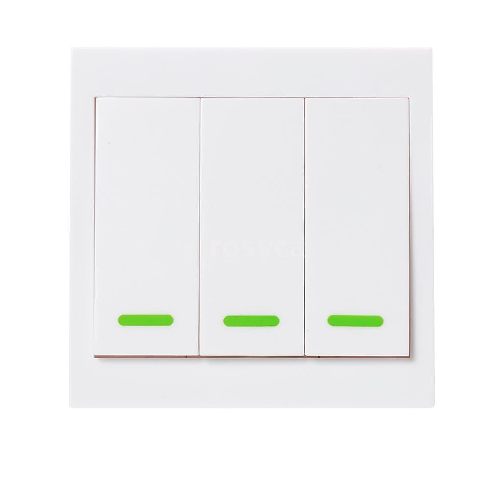 Wireless Remote Transmitter Sticky RF Intelligent Switch for Home Living Room Bedroom 433MHZ 86 Wall Panel Switches