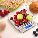 Kitchen LED Digital Scale Mini Pocket Scale Jewelry Scale Cooking Food Scale with Back-Lit LCD Display PCS Tare Function