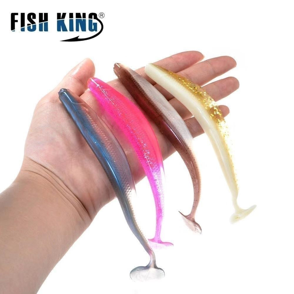 Fishing Soft Lure 5pcs/90mm/2.5g 4pcs/120mm/6g 4pcs/160mm/13g Worm Lure Carp Fishing Peche Leurre