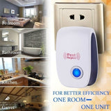 8pcs Pest Insect Control  Indoor Ultrasonic Repeller Anti Mosquito Repellent Mouse Control Rejector Cockroach Rat Bug Rejection