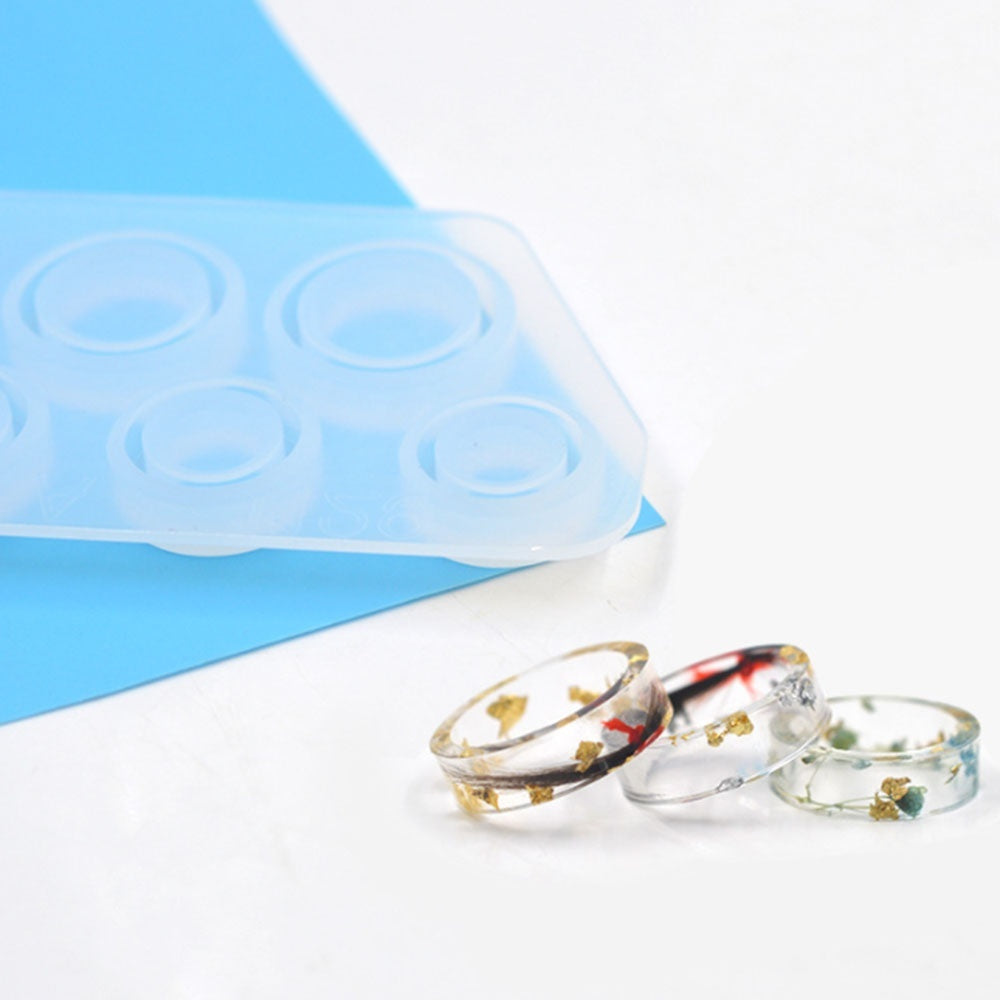 New DIY Assorted Sizes Ring Silicone Mold Jewelry Resin Casting Mold US Size 5-12