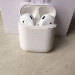 Lastest  Model Generation 2 TWS Wireless Earphones Wireless Charging  Bluetooth Headphone Mini Wireless Earphone Siri Touch Control (Not include wireless charger)