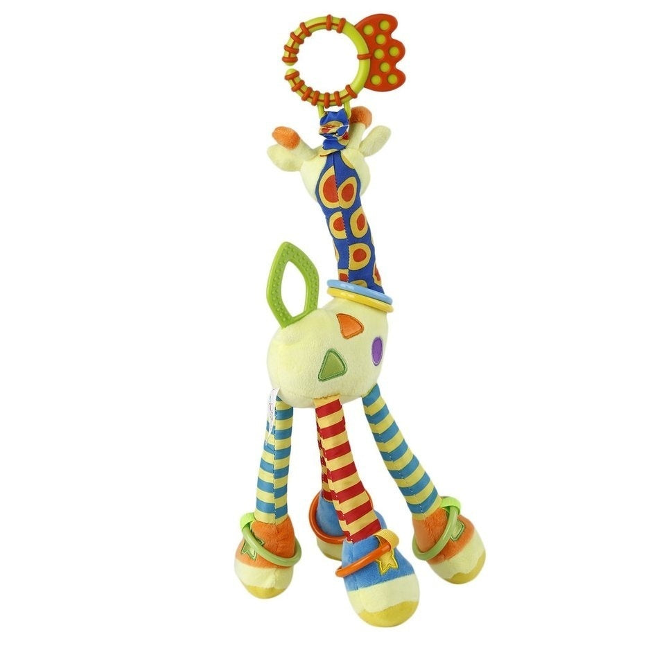 Infant Baby Bed Bells Development Soft Animal Handbells Rattles Handle Toys Zx