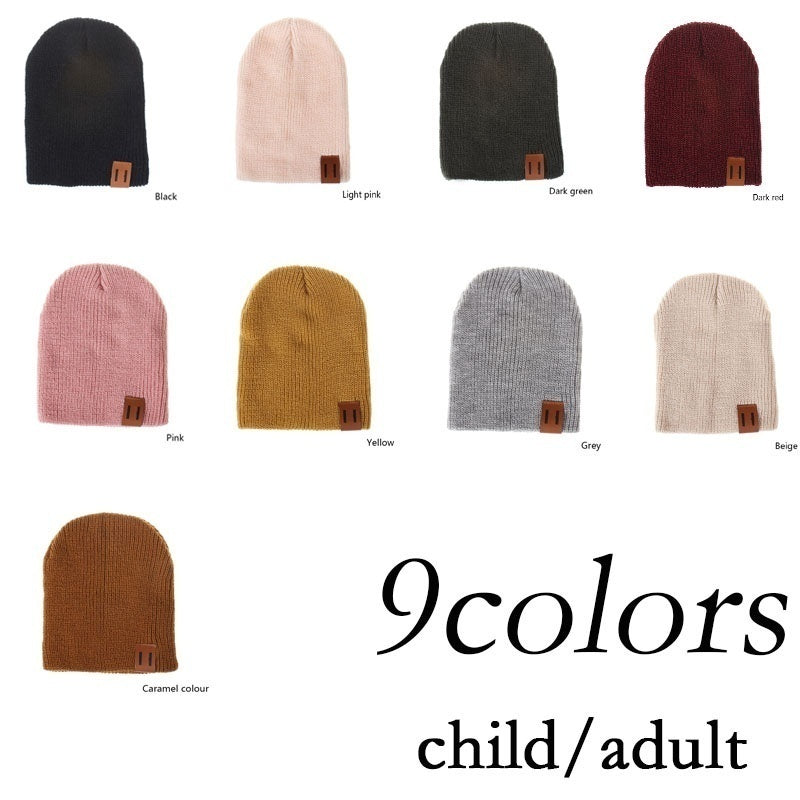 2019 Cute Kid Child Hat Baby Hat Crochet Hat Solid Color Dad Mother and Me Boy and Girl with Hot Hat Winter Hat