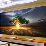 Full Round Drill Landscape painting 5D DIY Diamond Painting 3D Embroidery Cross Stitch 5D Home Decor Gift Lightning Tree