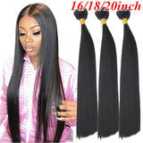 Straight Hair Bundles Remy Human Hair Extensions Natural Black Weave Bundles