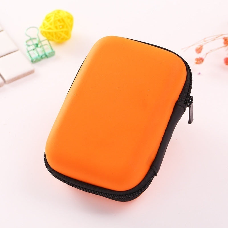 Earphone Accessory Mini Portable Earphone bag Coin Purse Headphone USB Cable Case Storage Box Wallet