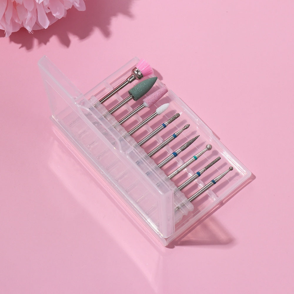 10Pcs/box Nail Drill Bit Tungsten Steel Beauty Diamond Burr Nail File Cutter Grinding Head Manicure Pedicure Cuticle Clean