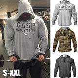 New Men Muscle Gyms Bodybuilding Sports Hoodie Workout Fitness Pullover Sweatshirt Coat