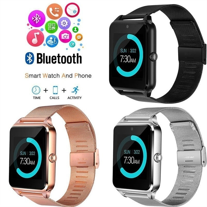 Z60 Smart Watch Phone Pedometer Sedentary Remind Sleep Monitor Remote Camera compatible Android Smartphones