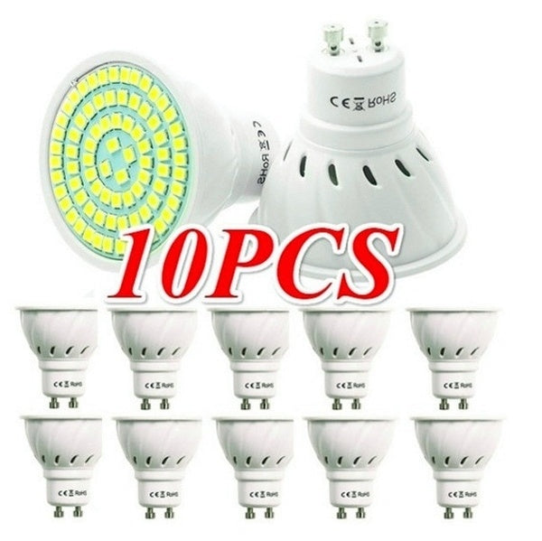 Pack of 10  GU10 220V Bombillas Lampada Spotlight LED Bulb SMD 2835  Spot Light 230V 240V Energy Saving