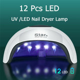 HOT! UV LED Smart Induction Timing Nail Dryer Lamp Gel Polish Curing Manicure Nail Art  Lamp  With USB 230W
