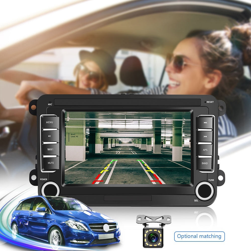 7'' Android 8.1 Double Din GPS Car Stereo Radio TFT Touch Screen Car MP5 Player with Bluetooth Mirror Link FM Radio Receiver for VW