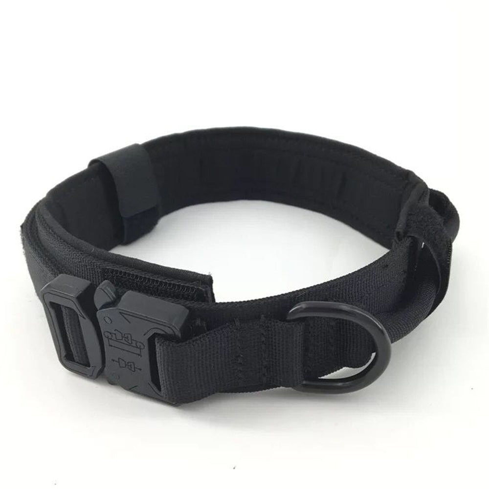Adjustable Military Tactical Nylon Dog Collars Control Wrist Training Pet Cat Dog Collar