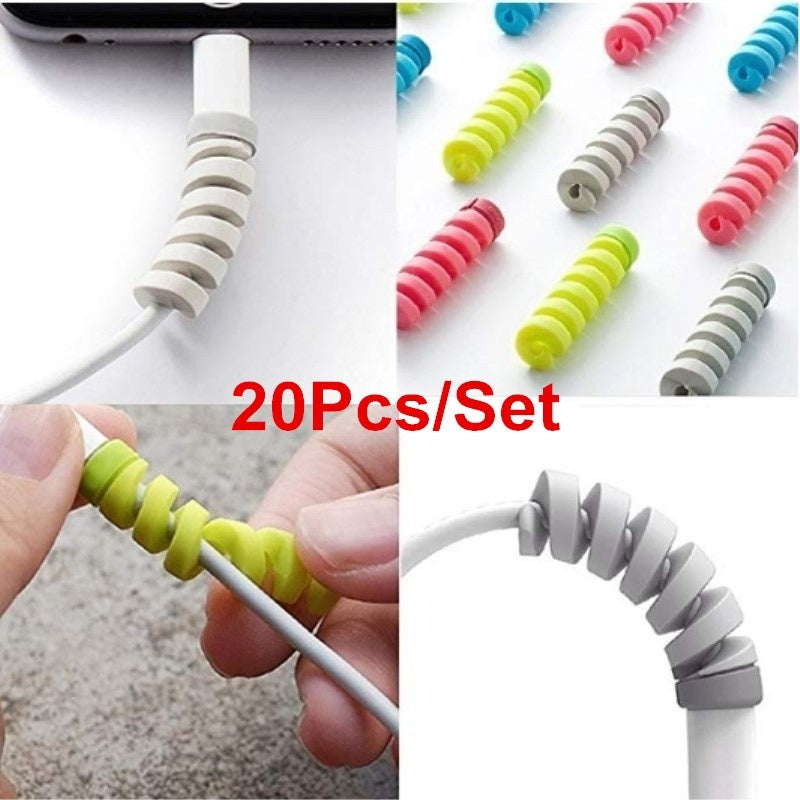 20Pcs Cable Protector Saver Cover for Mobile Phone USB Charger Cables Cord Phone Accessories