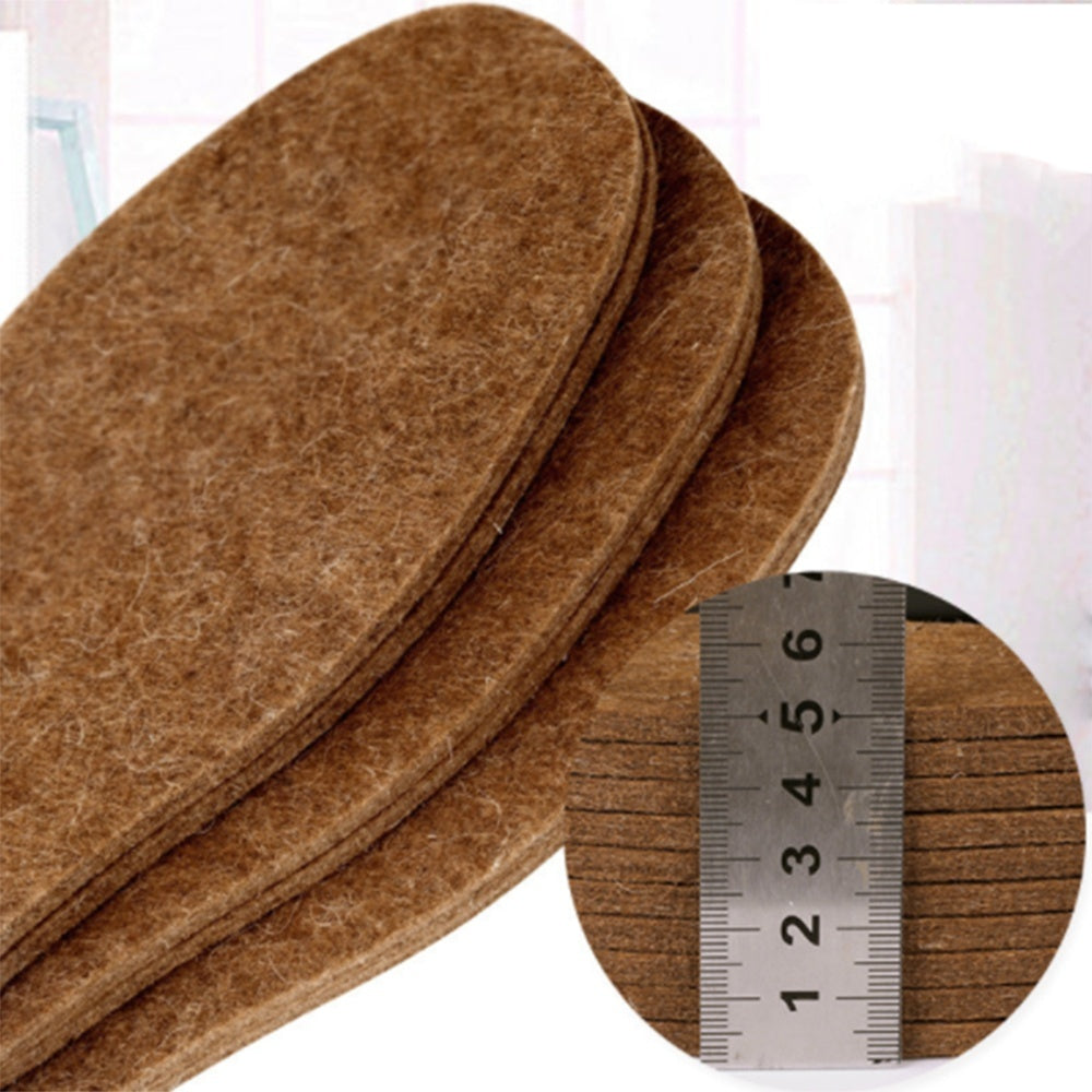 Sweat-Absorbent Unisex Warmer Women Men Thickened Insoles Wool Felt Cotton Pads Insole