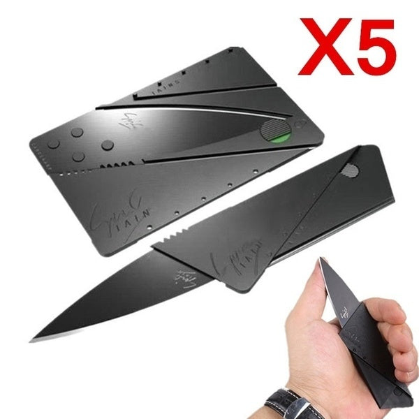 5x  New Credit Card Knife Multifunctional Pocket Knife Wallet Multi Tool Multitool Camping Survival Tools