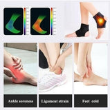 1 Pair Tourmaline Self Heating Magnetic Therapy Foot Ankle Massage Belt Pad Therapy Thermal Self-heating Ankle Pad Belt