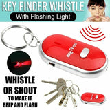 1pc  Lost Car Key Finder Locator With LED Light Whistle Key Ring Finder