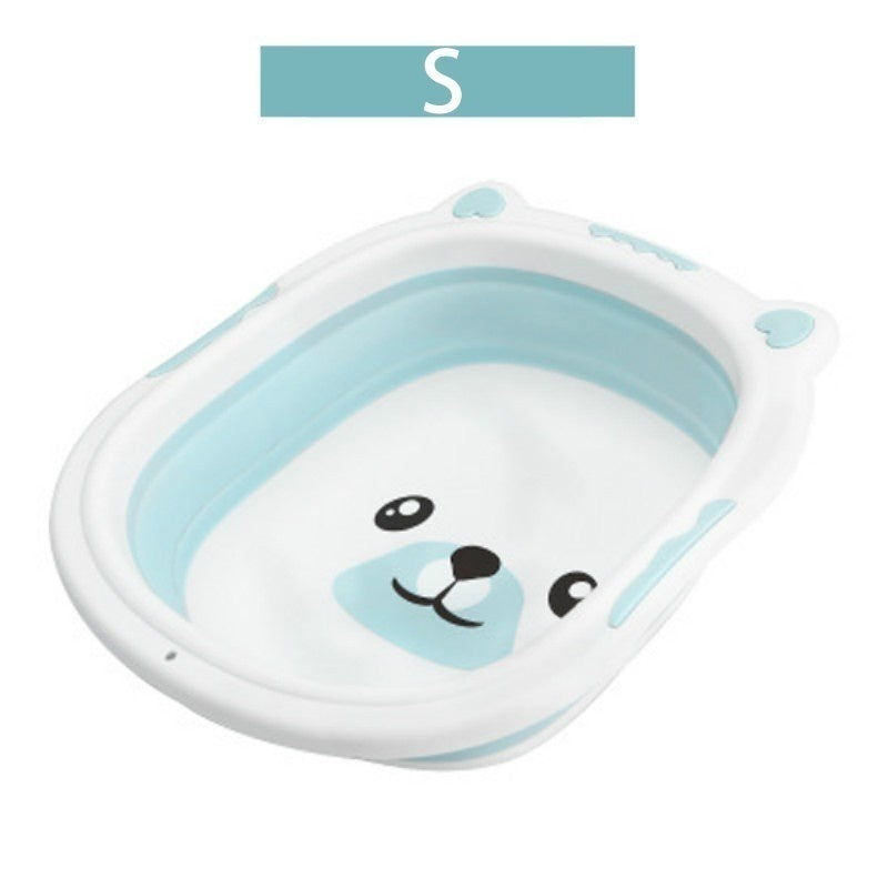 New Quality Portable Non-toxic Silicone Washbasin Children Shower Foldable Bathtub Baby Care Bathroom Supplies