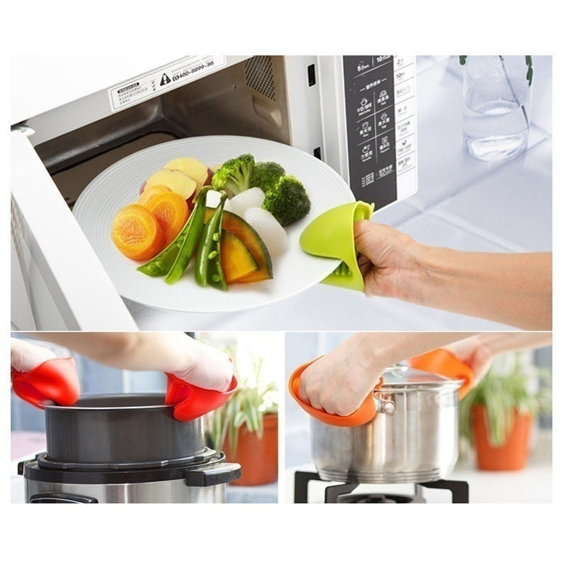 2 Pcs Silicone Oven Glove Grip Pinch Grip Heat Resistant Kitchen Tool