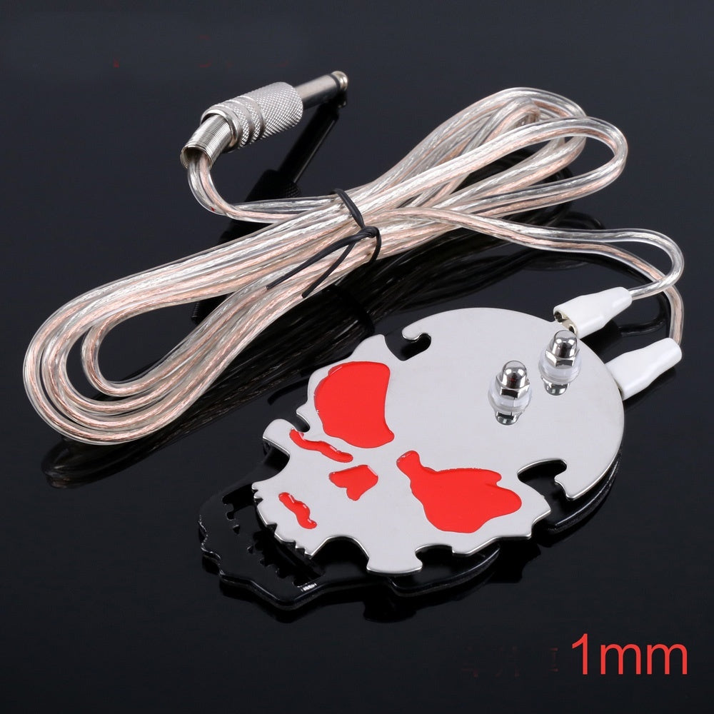 Skull Design Tattoo Foot Switch Pedal Stainless Steel Tattoo Foot Pedal For Tattoo Power Supply