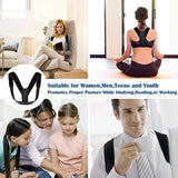 Unisex Adjustable Posture Corrector Back Corset Shoulder Support Brace BeltStrap