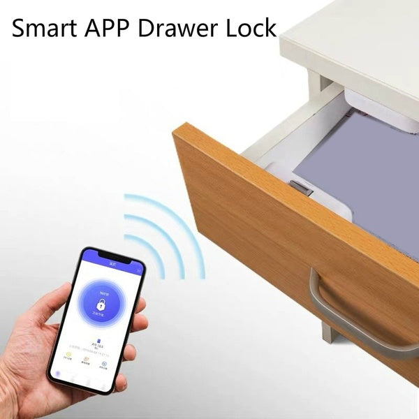 Smart APP Drawer Lock Free Hole Lock Invisible Lock File Cabinet Lock