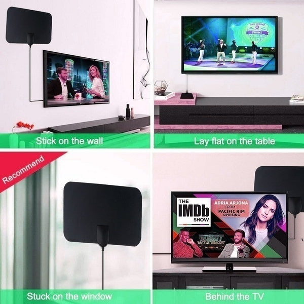 New Hdtv Antenna Hd Digital Indoor Tv Antenn Wide Flat Hd Indoor Tv Antenna With or without amplifier