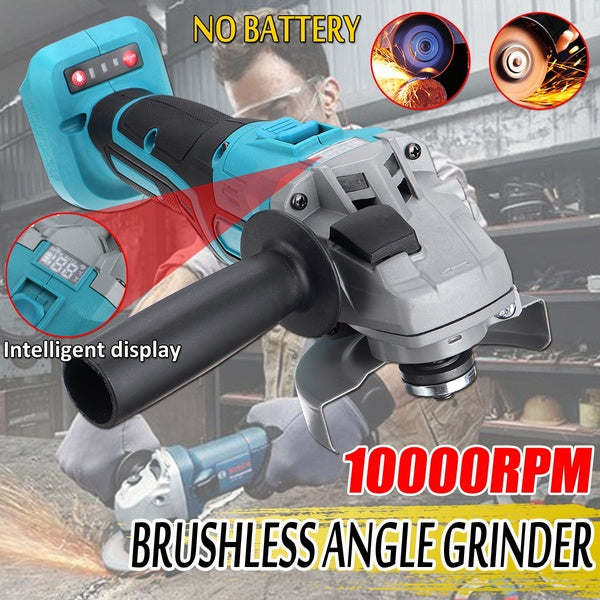 Digital display 1000W Intelligent Display Multi-function Cordless Brushless Electric Angle Grinder Polishing Cutting Machine Adapted To 18V Makita battery (NO BATTERY)