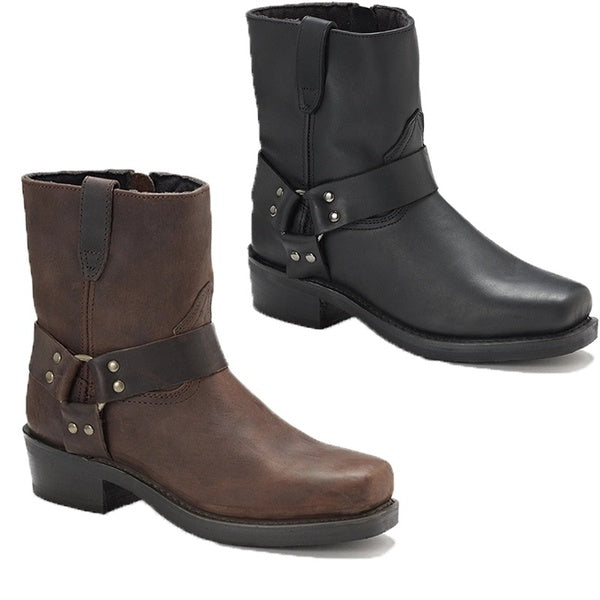Plus Size 2020 Mens Short Harness Boot Harness Western Boots