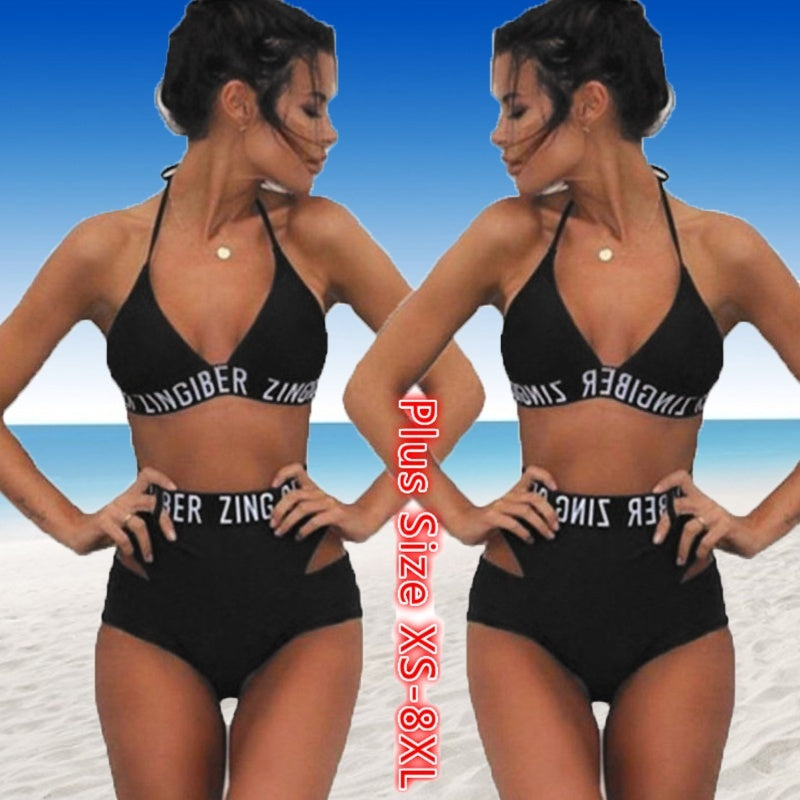 Women Two Pieces Swimsuit Swimwear Monokini Bikini Plus Size XS-8XL