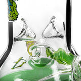 Green Straight Cartoon Oil Rigs Colorful Sticker Glass Water Pipes