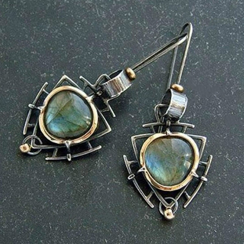 Indian Tribal Personality Dangle Drop Earrings Resin Stone Boho Ethnic Vintage Hanging Earrings 2020 for Women