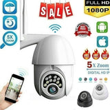 1080p HD surveillance camera network camera waterproof outdoor wifi PTZ secure wireless infrared camera 24LED No Wifi
