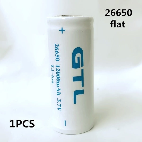 1-6PCS 100% New Original 26650 3.7 v 12000 mah 26650 Lithium Rechargeable Battery For Flashlight batteries