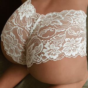 Charmful Girl High Waist G string Brief Pantie Thong Lingerie Knicker Lace Underwear S M L XL