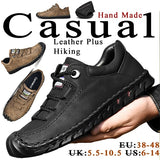 New Men's Casual Microfiber Leather Shoes Handmade Shoes Hiking Non-slip Shoes Driving Shoes (US: 6-14, EU: 38-48, UK: 5.5-10.5)