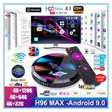 New High Quality H96 MAX HD X3 8K TV Box - Android 9.0 Smart HD IPTV Boxes 4G RAM + MAX 128G ROM S905X3 CPU Chip Support 1000M LAN Ethernet 2.4G+5G WIFI, USB 3.0 & Smart Cast