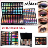 Fashion Eye Shadow Cosmetic Powder Eyeshadow Palette Makeup Set Matt Available Beauty Pigmented Eye Makeup Professional Eyeshadow 29/40/120/252 Colors