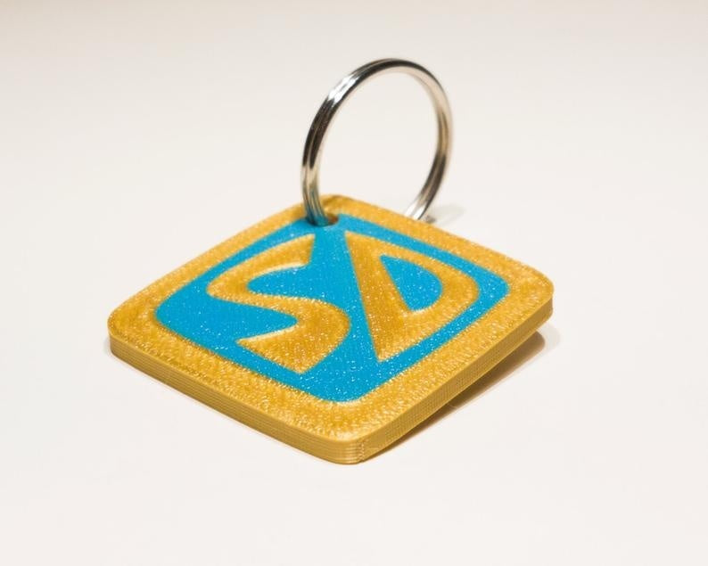 Scooby Collar Tag / Key Ring Doo