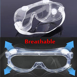 Anti Fog Safety Goggles Scratch Resistant & UV Protection Safety Glasses , Eye Impacted Sealed Protective Work Goggles Over Spectacles for DIY, Lab, Welding, Grinding, Cycling