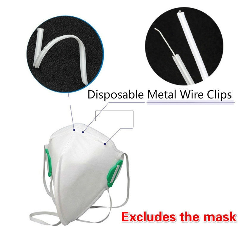 100PCS Nose Bridge Mask Making Fixer Crafts DIY Accessories Disposable Metal Wire Clips