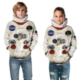 New Fashion Parent-Child 3D Print Hoodie Armstrong Printed Hoodie Funny Spacesuit Sweatshirt