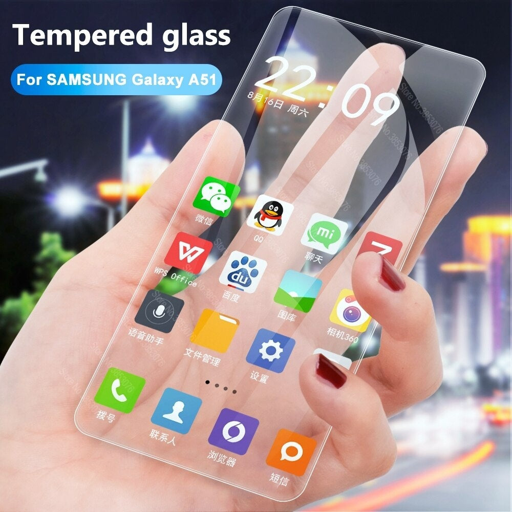 2 PCS 9H HD Tempered Glass For Samsung Galaxy A71 A51 A50S A30S A10 A30 A50 A70 A40 A20 A80 A90 A60 A7 2018 9H Screen Protector