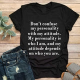Cotton Graphic Funny Tee: Short Sleeves, Loose, Graphic Tee with Funny Saying