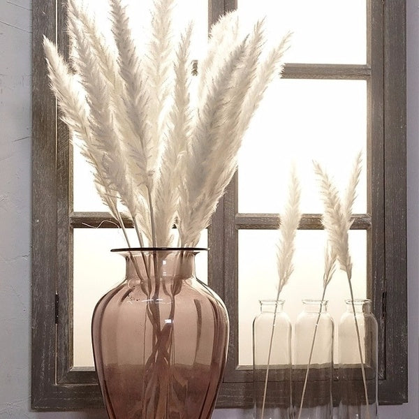 10Pcs Bulrush Natural Dried Small Pampas Grass Phragmites Artificial Plants Wedding Flower Bunch for Home Decor Fake Flowers